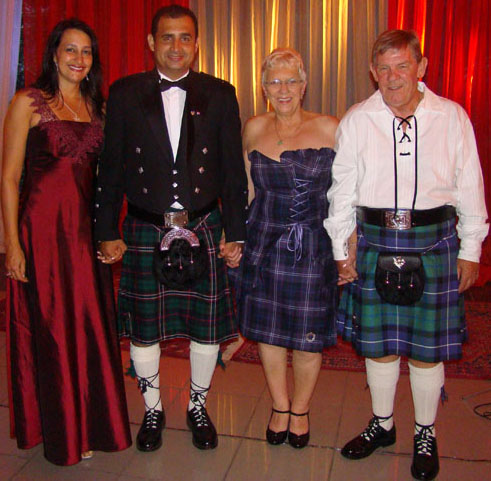 Renata, Hamilton, Betty and Ronnie Scotland